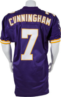 best sneakers 00c91 7fec2 1998 Randall Cunningham Game Worn Minnesota Vikings Jersey ...