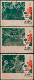 """Movie Posters:Swashbuckler, The Adventures of Robin Hood (Dominant, R-1956). Lobby Cards (3) (11"""" X 14""""). Swashbuckler.. ... (Total: 3 Items)"""