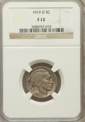 Buffalo Nickels: , 1919-D 5C Fine 12 NGC. NGC Census: (16/551). PCGS Population(21/799). Mintage: 8,006,000. Numismedia Wsl. Price for proble...