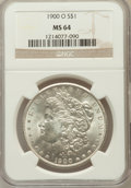 Morgan Dollars: , 1900-O $1 MS64 NGC. NGC Census: (18239/7582). PCGS Population(16205/6763). Mintage: 12,590,000. Numismedia Wsl. Price for ...