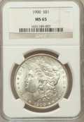Morgan Dollars: , 1900 $1 MS65 NGC. NGC Census: (4299/593). PCGS Population(3499/592). Mintage: 8,830,912. Numismedia Wsl. Price forproblem...