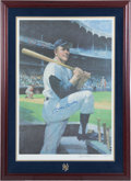 Baseball Collectibles:Photos, 1988 Mickey Mantle Signed Artist Proof Lithograph Display 507/777....