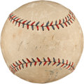 Autographs:Baseballs, 1928 Babe Ruth Single Signed Baseball....