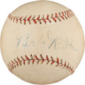 Autographs:Baseballs, Late 1920's Babe Ruth & Lou Gehrig Dual-Signed Baseball....