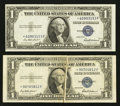 Error Notes:Error Group Lots, Fr. 1615* $1 1935F Silver Certificate Stars. Two Examples. VeryFine-Choice Crisp Uncirculated.. ... (Total: 2 notes)