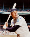 Autographs:Photos, 1990's Mickey Mantle No. 7 Signed Large Photograph, PSA/DNA GemMint 10....
