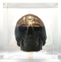 ANDREI MOLODKIN (Russian, b. 1966) Crude Oil in the Form of a Human Skull Acrylic, crude oil 8-1/