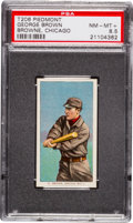 Baseball Cards:Singles (Pre-1930), 1909-11 T206 Piedmont George Brown, Chicago PSA NM-MT+ 8.5 - FinestKnown! ...
