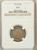 Liberty Nickels: , 1912-S 5C Fine 12 NGC. NGC Census: (183/594). PCGS Population(313/1033). Mintage: 238,000. Numismedia Wsl. Price for probl...