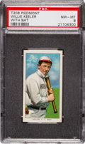Baseball Cards:Singles (Pre-1930), 1909-11 T206 Piedmont Willie Keeler, With Bat PSA NM-MT 8. ...
