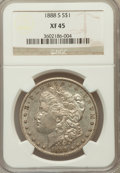 Morgan Dollars, 1888-S $1 XF45 NGC. NGC Census: (86/3619). PCGS Population(167/6152). Mintage: 657,000. Numismedia Wsl. Price for problem ...