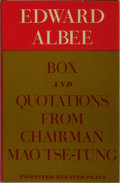 Books:Literature 1900-up, Edward Albee. SIGNED ADVANCE READER'S COPY. Box and QuotationsFrom Chairman Mao Tse-Tung. Atheneum, 1969. First...
