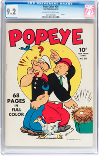 Four Color #26 Popeye (Dell, 1943) CGC NM- 9.2 Off-white to white pages