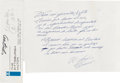 Autographs:Others, 1960's Roberto Clemente Handwritten Signed Letter to the People of Puerto Rico....