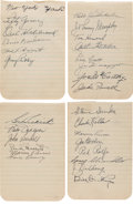Autographs:Others, 1941 New York Yankees Team Signed Sheets....