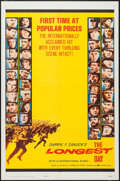 "Movie Posters:War, The Longest Day (20th Century Fox, 1962). One Sheet (27"" X 41"")Popular Prices Style & Lobby Cards (7) (11"" X 14""). War.. ...(Total: 8 Items)"