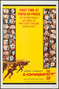 """The Longest Day (20th Century Fox, 1962). One Sheet (27"""" X 41"""") Popular Prices Style & Lobby Cards (7)..."""