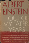 Books:Biography & Memoir, Albert Einstein. Out of My Later Years. New York:Philosophical Library, [1950]. First edition. Octavo. 282 pages....