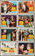 "Movie Posters:Comedy, Cat Ballou (Columbia, 1965). Lobby Card Set of 8 (11"" X 14""). Comedy.. ... (Total: 8 Items)"