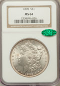 Morgan Dollars, 1898 $1 MS64 NGC. CAC. NGC Census: (7934/3063). PCGS Population(5766/2756). Mintage: 5,884,735. Numismedia Wsl. Price for ...