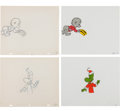 Animation Art:Production Cel, The Pogo Special Birthday Special Pogo and Albert AnimationCel and Production Drawing Original Art Group (Chuck Jones...(Total: 4 Original Art)