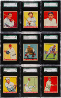 Baseball Cards:Lots, 1933 Goudey Baseball SGC-Graded Collection (9) With HoFers. ...
