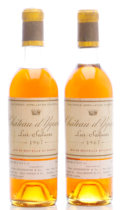 White Bordeaux, Chateau d'Yquem 1967 . Sauternes. 1ts, 2lbsl, light ambercolor. Half-Bottle (2). ... (Total: 2 Halves. )