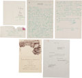 Autographs:Letters, The Balance of the Hayward Binney Archive including Two Ty Cobb Signed Letters....