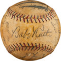 Autographs:Baseballs, 1930 New York Yankees Team Signed Baseball....