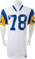 Football Collectibles:Uniforms, Early 1980's Jackie Slater Game Worn Los Angeles Rams Complete Uniform (Jersey and Pants)....