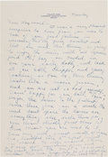 Autographs:Letters, Circa 1940 Ty Cobb Handwritten Signed Letter from the HaywardBinney Archive....