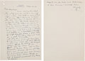 Autographs:Letters, 1941 Ty Cobb Handwritten Signed Letter from the Hayward BinneyArchive....