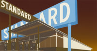 ED RUSCHA (American, b. 1937) Double Standard, 1969 Color screenprint Image size: 19-1/2 x 36-7/8