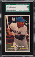 Baseball Cards:Singles (1950-1959), 1957 Topps Ernie Banks #55 SGC 96 Mint 9 - Pop One, Highest Known!...