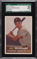 Baseball Cards:Singles (1950-1959), 1957 Topps Bill Mazeroski #24 SGC 96 Mint 9 - Pop Three, None higher. ...
