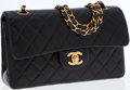 Luxury Accessories:Bags, Chanel Black Lambskin Leather Double Flap Bag with Gold Hardware....