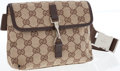 Luxury Accessories:Bags, Gucci Classic GG Monogram Canvas Waist Bag with Silver Hardware....