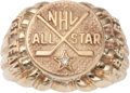 Hockey Collectibles:Others, 1961-62 Bobby Hull NHL All Star Gold Charm Ring. ...
