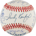Autographs:Baseballs, 1980's-2000's Perfect Game Pitchers Multi-Signed Baseball--All 19Modern Perfectos!...