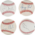 Autographs:Baseballs, 1980's-2000's U.S. Presidents Single Signed Baseballs Lot of 4....