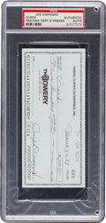 Autographs:Checks, 1989 Joe DiMaggio Signed Check....
