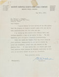 Autographs:Letters, 1923 Christy Mathewson Signed Letter....