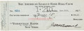 Autographs:Checks, 1925 Paul Krichell Signed New York Yankees Payroll Check....