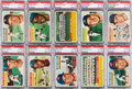 Baseball Cards:Lots, 1956 Topps Baseball PSA NM-MT 8 Graded Collection (30). ...