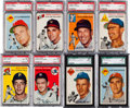 Baseball Cards:Lots, 1954 Topps Baseball Graded Collection (17). ...
