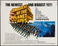 "Movie Posters:Science Fiction, Conquest of the Planet of the Apes (20th Century Fox, 1972). HalfSheet (22"" X 28""). Science Fiction.. ..."