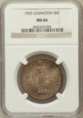 Commemorative Silver: , 1925 50C Lexington MS66 NGC. NGC Census: (210/13). PCGS Population(321/9). Mintage: 162,013. Numismedia Wsl. Price for pro...