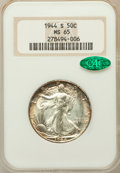 Walking Liberty Half Dollars: , 1944-S 50C MS65 NGC. CAC. NGC Census: (1233/198). PCGS Population(2553/422). Mintage: 8,904,000. Numismedia Wsl. Price for...