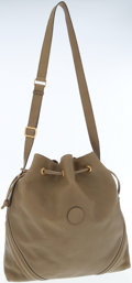 Luxury Accessories:Bags, Gucci Olive Leather Drawstring Bag with Shoulder Strap. ...