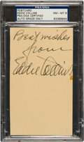 Autographs:Post Cards, 1950 Eddie Collins Signed Government Postcard, PSA/DNA NM-MT 8....